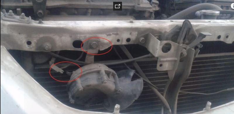 Быстрое снятие радиатора кондиционера на Mazda Familia