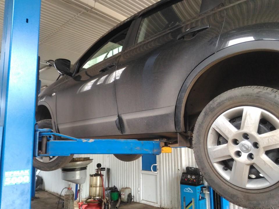 Как заменить масло в вариаторе Nissan Qashqai