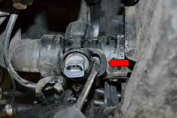 Ауди A4 B6 – замена датчика температуры охлаждающей жидкости