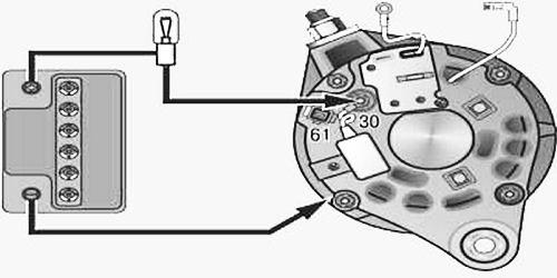 Как проверить диодный мост генератора Ваз 2110 при помощи лампочки