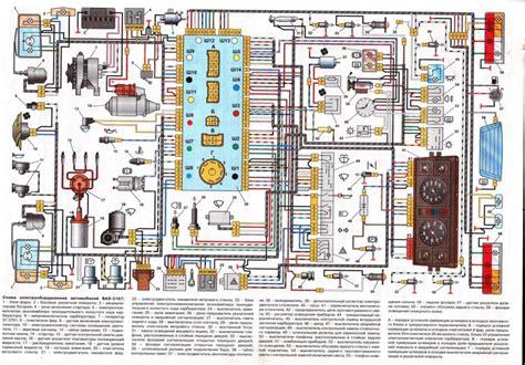 Схема электроцепи Ваз 2107