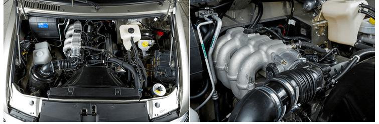 Дизельный двигатель и подкапотное пространство УАЗ Патриот 2008 г.в
