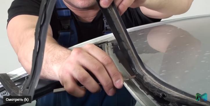 Как заменить лобовое стекло на Киа Рио своими руками